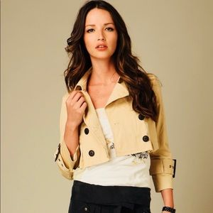 Free People Cropped Trench Coat